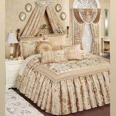 Monarch Golden Bronze Grande Flounce Bedspread