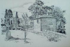 Kirkby Lonsdale, English Lake District, original drawing by Karl Stedman, kstedmanart@aol.com