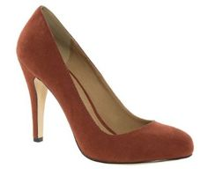 Barratts Womens Tan High Heel Round Toe Court Shoes