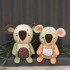 stuffed koalas  Bonzer & Beaut    http://mellyandme.typepad.com/photos/designs_by_melly_me/m06---bonzer-beaut.html#