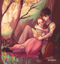 Anne x Gilbert Gilbert Blythe, Cute Drawings, Drawing Sketches, Anne And Gilbert, Anne Green, Amybeth Mcnulty, Anne White, Anne With An E, Japon Illustration
