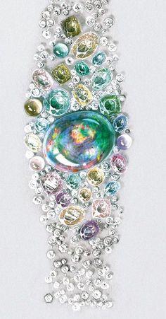 Tendance Bracelets  Cartier. Opal Australe bracelet sketch                                                                                                                                                                                 More
