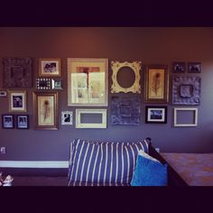 Love this collage wall!