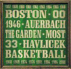 """Vintage Boston Celtics Wood Sign 18"""" x 18"""""""