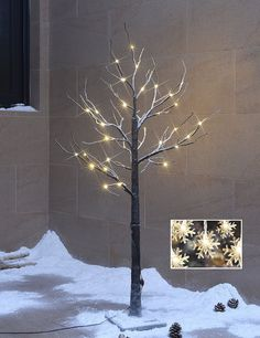 Amazon.com - 20% OFF Only Three days! Lightshare™ NEW 4FT 48L LED Snow Tree, +Free Gift:10L LED Snow Flake Decoration Light, Home/Festival/Party/Christmas, Indoor and Outdoor Use, Warm White21 -