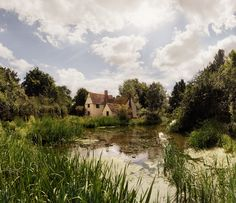 Here's quite a picturesque image of Willy Lotts Cottage, the same place that John Constable painted the Hay Wain.