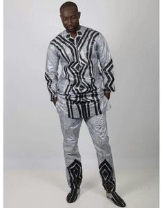 African Clothing For Men, African Shirts, African Print Fashion, Africa Fashion, Tribal Fashion, African Women, African Attire, African Dress, Mens Fashion Wear