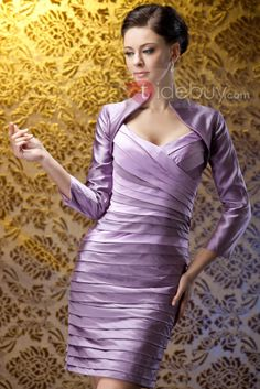 US$217.79 Fabulous Beading Pleats SheathPolina'sColumn Sweetheart Neckline Polina's Mother of the Bride Dress. #2014 #Mother #Sheath #Sweetheart