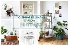 10 Things I Learnt From Pinterest