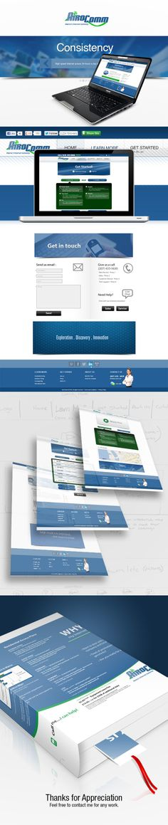Web Design and front end Development.