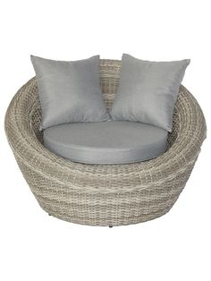 Buy Royalcraft Windsor Outdoor Snuggler, Grey from our Garden Seating range at John Lewis & Partners. Outdoor Lounge, Outdoor Chairs, Outdoor Furniture, Outdoor Decor, Garden Seating, Garden Chairs, Scatter Cushions, Seat Cushions, Pod Chair