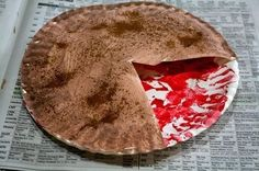 apple pie craft...paper plates, red and brown paint and cinnamon
