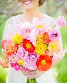 stunning bright bouquet captured by Squaresville Studios