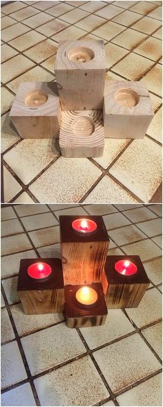 Such an amazing and elegant candle holder designing work has been all set in this image for you. This image has been making you show out the candle amazing holder design that has been put together with the durable use of the wood pallet being part of it. It do look so unique and creative in appearance.
