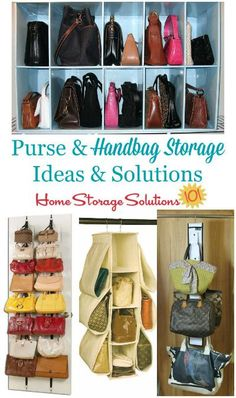 Purse U0026 Handbag Storage Ideas U0026 Solutions