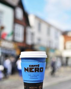 Caffe Nero Blue Cup and the city.   (With thanks to @corinamirea)