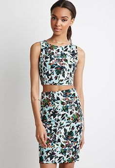 Abstract Floral Print Set | Forever 21 - 2049257202