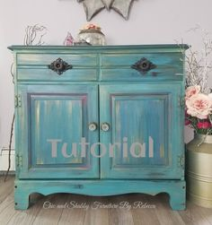 Tutorial - Techniques - Blending - Chic and Shabby Furniture.- Tutorial – Techniques – Blending – Chic and Shabby Furniture By Rebecca - Rustic Furniture Decor, Shabby Chic Dresser, Painted Furniture, Shabby, Repurposed Furniture, Paint Furniture, Furniture Rehab, Shabby Chic Furniture, Shabby Furniture