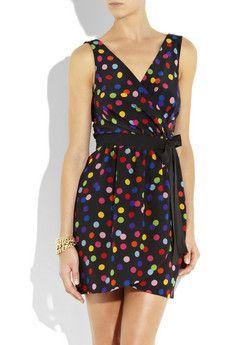 Dolce & Gabbana Spotted Silk-crepe Mini Dress