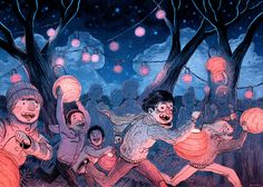 Every year, we sent hundreds of lanterns off to... - Ryan Andrews Comics