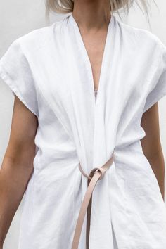 Miranda Bennett Studio Knot Dress — Primary New York Knot Dress, Wrap Dress, Best Formal Dresses, White Maxi Dresses, Cotton Style, Looks Cool, Fashion Tips, Fashion Design, Fashion Trends
