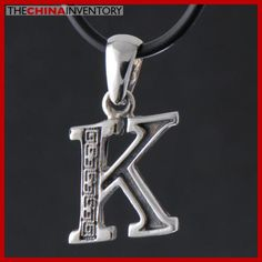 925 STERLING SILVER ALPHABET K PENDANT NECKLACE SIL2317K Wholesale Jewelry, Alphabet, Fashion Jewelry, Pendant Necklace, Sterling Silver, Orange, Trendy Fashion Jewelry, Alpha Bet, Costume Jewelry