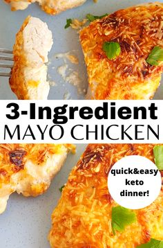 Easy Peasy Cheesy Mayo Chicken is quick and easy to make and is sure to become a family favorite. It's moist, flavorful and melt-in-your-mouth tender using one simple trick! #chicken #easyrecipe #weeknightdinner #mayo #30minutemeals Chicken Mayo Parmesan, Recipes With Parmesan Cheese, Mayo Chicken, Chicken Fajita Recipe, Chicken Mayo Cheese Recipe, Low Carb Dinner Recipes, Keto Dinner, Lunch Recipes, Free Recipes