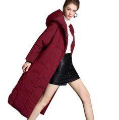 Long Loose Women Down Coat Hooded Winter Loose 90% Duck Down Jackets – SimpleLinenLife