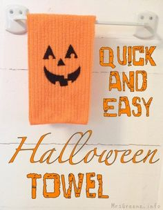 Make a Stenciled Halloween Towel