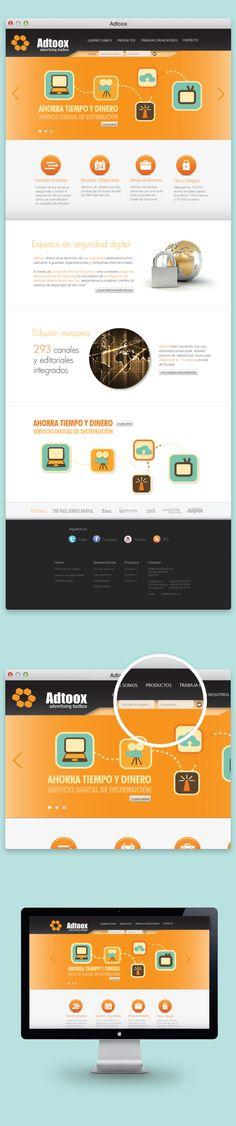 Adtoox - web design by Marc Ruaix, via Behance