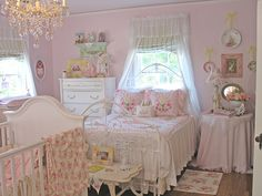 Love....Love this shabby chic little girls bedroom