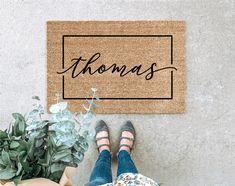 Welcome Mat Custom Doormat Housewarming Gift Wedding Gift Best Shakes, Custom Mats, Coir Doormat, Personalized Door Mats, Personalized Wedding Gifts, Newlywed Gifts, Welcome Mats, Funny Welcome Mat, Couple Gifts