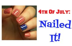 Fourth of July- Nailed It! Independence day is the best. There is food, family, and fireworks…what could be better! I am usually at family or friend's parties on the Fourth of July, so I know I will have to be decked out in my best Independence Day attire! Here are a few nail art ideas to top your patriotic ensemble off!...  Read More at http://www.chelseacrockett.com/wp/beauty/fourth-of-july-nailed-it/.  Tags: #4ThOfJulyFashion, #IndependenceDay, #July4Th, #July4Th