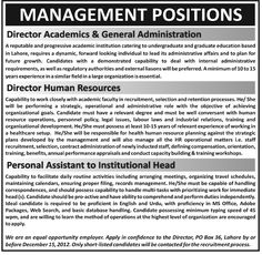 #PakJobs Jobs In Lahore Job For P.A And DHR