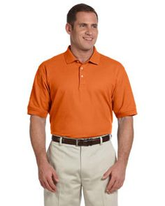 Devon & Jones Men's Pima Piqué Short D100 Deep orange