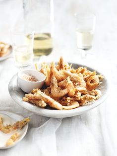 crispy prawns with lemon chilli salt