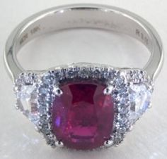 #Jewelry 3.15 ctw Ruby And Diamond Ring
