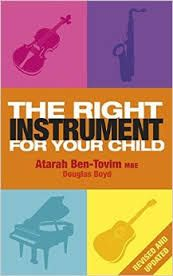 The right instrument for your child : the key to unlocking musical potential by Atarah Ben-Tovim and Douglas Boyd.  This book offers a simple and practical method of selecting the right instruments for the individual child. Starting with the physical and emotional make-up of the child and using questionnaires and charts, the authors systematically explain the pros and cons of various instruments. #songread #rwpchat