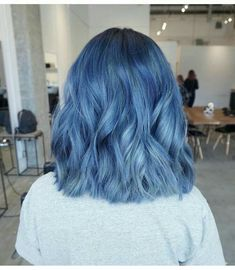 💙 My dream blue hair - dyed hair - Cheveux Hair Dye Colors, Cool Hair Color, Blue Hair Colour, Nice Hair Colors, Short Hair Colour, Faded Hair Color, Aesthetic Hair, Coloured Hair, Colored Short Hair