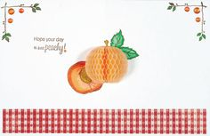 Thinking of You card--Inky antics Just Peachy