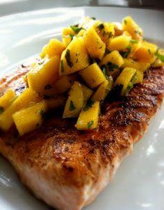 smoky salmon w/mango salsa #paleo