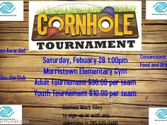 Cornhole Tournament in Morristown – Prizes Awarded Benefits the Morristown Boys & Girls Club Concessions Food and Drink Adult Tournament Youth Tournament Cornhole Tournament, Baseball Tournament, Fundraising Ideas, Fundraising Events, Volleyball, Basketball, Flyers Ideas, Parent Club, Boys And Girls Club