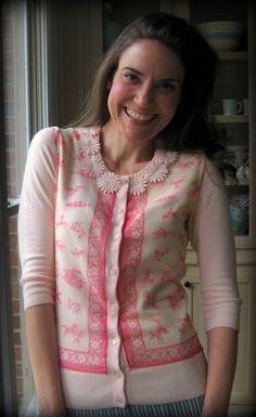 Cassie Stephens: DIY: Scarf, Meet Cardigan