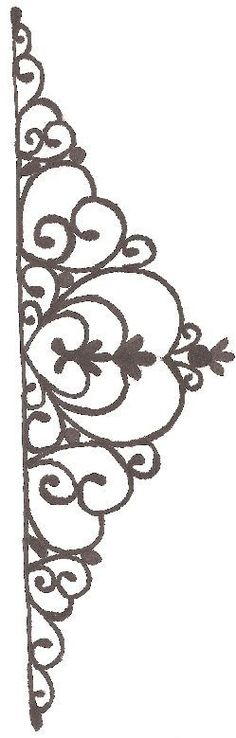 tiara template - This is the template I created for the tiara on my Princess Gracie pillow cake.: