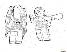 Coloringsco Batman Vs Superman Coloring Pages