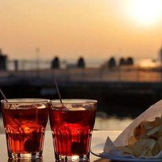 Aperol Spritz at sunset