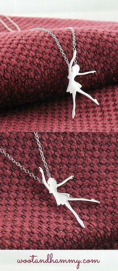 graceful dancer necklace in sterling silver.