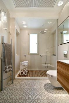 Bench next to/inside shower
