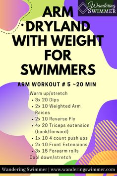 Dry Land Swim Workouts, Workouts For Swimmers, Swimming Workouts, Swimming Tips, Masters Swimming, Cool Down Stretches, Swimming World, Swim Meet, Competitive Swimming