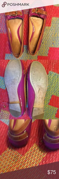Coach like new flat,cozy& cool loafers:) Go cute. Stunningly brand new top appearance . 6.5 gems. Coach Shoes Flats & Loafers